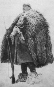 türkischer Soldat auf Wache an der Ostfront
