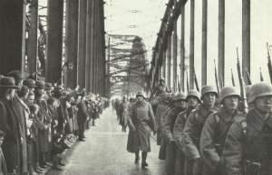 Einmarsch deutscher Soldaten in die entmilitarisierte Zone des Rheinlandes
