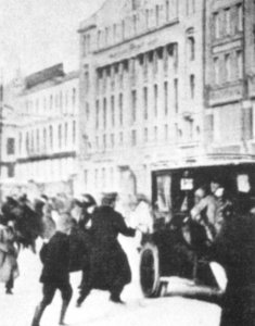 Nahrungsmittelaufständen in Petrograd