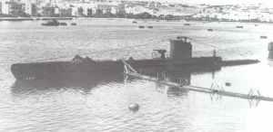 englische Unterseeboot HMS 'Ultimatum'