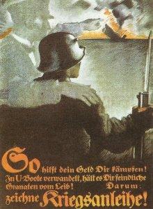 Deutsches Plakat für Kriegsanleihen