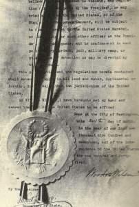 Kriegserklärung des US-Präsidenten Wilson