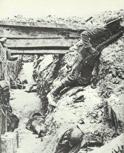 britischer Schützengraben