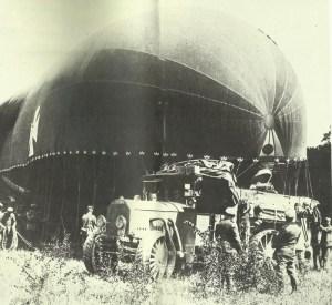Beobachtungsballon wird startklar gemacht