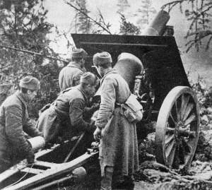 alte russische M10-Haubitze