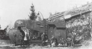 Italienische schwere 305-mm-Haubitze