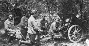 Österreich-ungarische 10-cm-M10-Gebirgshaubitze