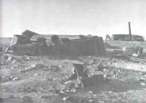 zerstörtes Fort Maxim Gorki in Sewastopol