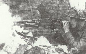 Bren-Maschinengewehr im Einsatz
