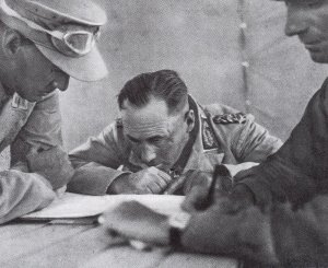 Rommel bei der Operationsplanung