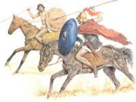Numidischer Reiter und römischer Equites