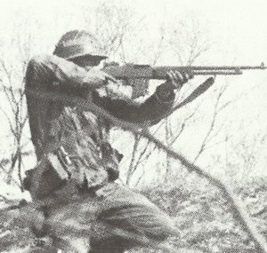 US-Soldat mit BAR