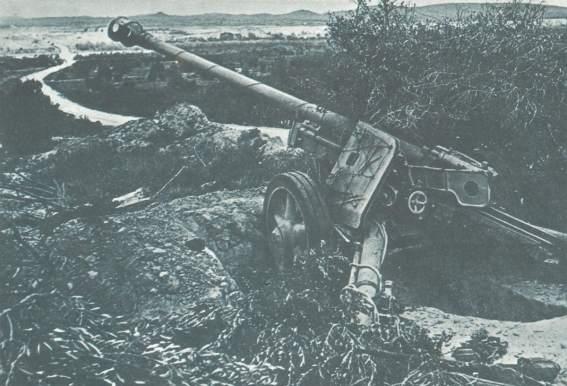 Pak 40 in ausgesuchter Feuerstellung
