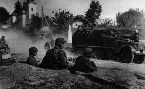 Stellungen von Totenkopf-Soldaten