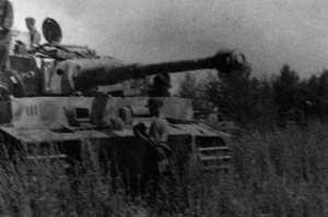 Tiger-Panzer der Totenkopf bei Kursk.