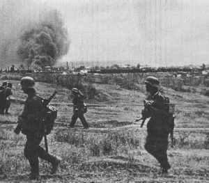 deutsche Truppen am Stadtrand von Stalingrad