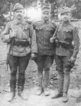 Drei Soldaten der österreich-ungarischen Armee