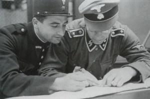 französischer Polizist und ein SS-Oberscharführer