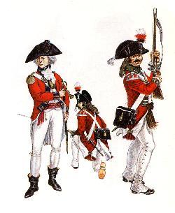 britischer Foot-Regimenter (1791-1794)