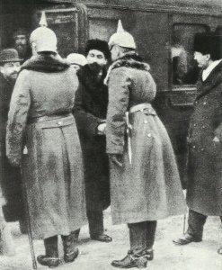 Ankunft von Trotzki in Brest-Litowsk