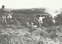 Türkische Feldartillerie, ausgerüstet mit deutschen 75-mm-Haubitzen