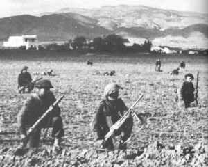 Britische Infanterie  in Tunesien