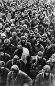 Deutsche Kriegsgefangene der 6. Armee nach dem Ende der Schlacht von Stalingrad