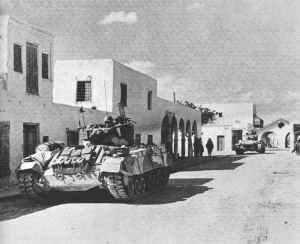Valentine-Infanteriepanzer der Britischen 8. Armee in Ben Gardane