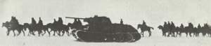 russische Kavallerie und T-34