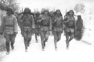 Arabische Infanterie der türkischen Armee
