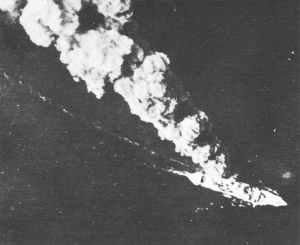 inkendes bewaffnetes japanisches Truppentransportschiff