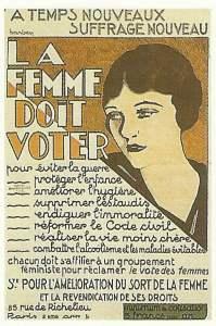 Plakat fordert das Frauenwahlrecht