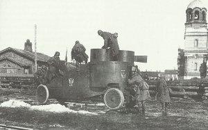 zurückgelassener russischen Panzerwagen