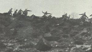 Sturmangriff deutscher Infanteristen