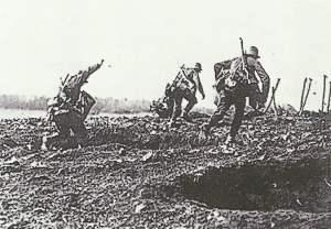 Angriff deutscher Soldaten