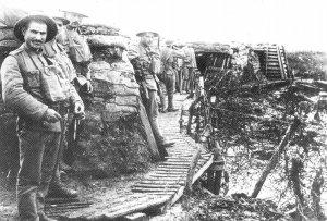 Portugiesische Truppen in ihren Stellungen