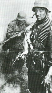 Luger-Pistole im Kampfeinsatz