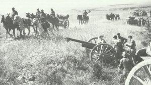 Französische Artillerie Tunesien
