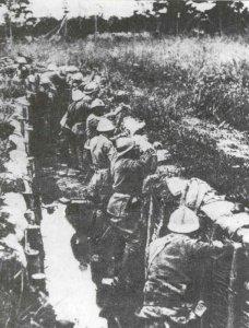 Italienische Infanterie an der Piave-Front