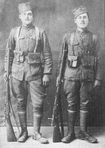 serbische Infanteristen in Saloniki im Jahr 1918