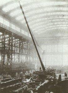 Bau Paris-Kanone bei Krupp