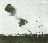 Versuchsschießen mit der vollständigen Paris-Kanone