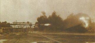 Lauf der Paris-Kanone bei Schußversuchen