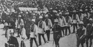 Beerdiguing von Sultan Mohammed V.