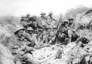 Australische Soldaten Angriff auf den Mont St. Quentin