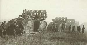 Britische Mark V Tanks