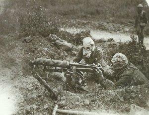 Vickers-MG im Einsatz