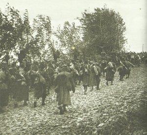 Serbische Truppen verfolgen die sich auflösende bulgarische Armee.