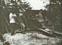 149-mm-Skoda-Haubitze Modell 1914 im Einsatz bei der italienischen Artillerie