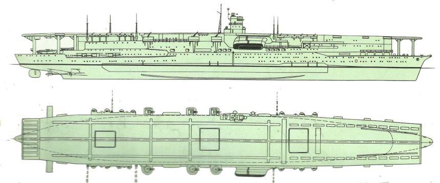 Ansicht der Akagi im Jahr 1941